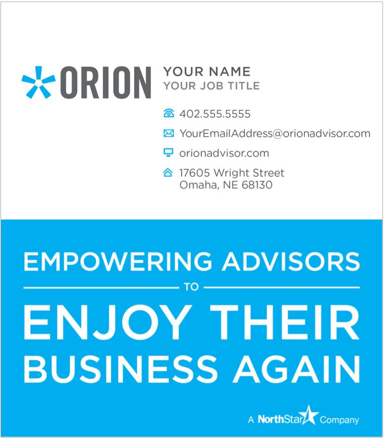 Business Cards - Orion Advisor Services