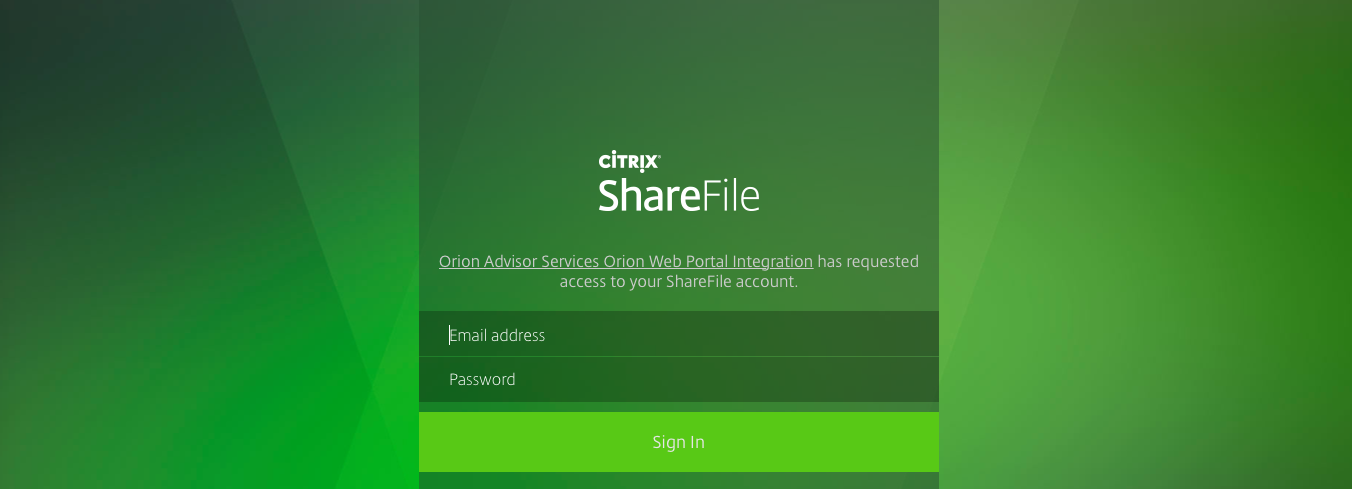 Citrix Sharefile sign in
