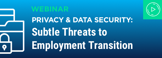 Privacy & Data Security: Subtile Treats to Employment Transition
